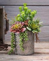 String of Pearls JadeArtificial Succulent Arrangement   – Vasos + Plantas