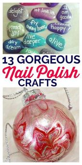 Nail Polish Crafts You Can Make and Clear Out Your Makeup Drawer
