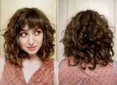 Short Haircuts with Bangs and Curly Hair