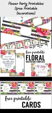 Flower Party Printables free Printable Decorations – Pinokyo  #Decorations #Flow…