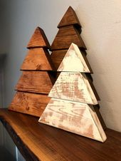 Rustic Wood Christmas Trees, Farmhouse Christmas Trees, Set of 3 Trees, Farmhouse Christmas Decor