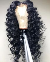 Magic Love Human Virgin Hair 13×6 Deep Wave Pre Plucked Lace Entrance Wig For Black…