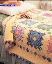 Fast ein Blumengarten Quilt – Free Quilt Pattern  – Quilts