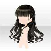 Penteado Senhora meio cabelo comprido preto   – A a a a a Black & Dark Blue Hair