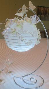 """Ähnliche Produkte wie Papierlaternen mit Seidenblumen verziert, viele """"Glitzer"""" … – Laternen"""