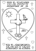 Free Printable Christian Bible Colouring Pages For Kids Happy Easter Cross Love Heart Dove Kids Cor Easter Art Christmas Art For Kids Art Drawings For Kids