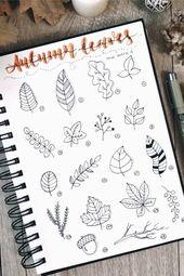 Best Bullet Journal Doodle Ideas For Halloween & Fall 2019