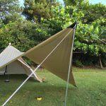 自作タープ連結アダプター タープとモノポールテントを連結するアダプターをdiy Yosocam テント タープ ガイロープ
