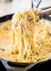 Carbonara crémeux – #carbonara #crusty   – Pasta Ideen