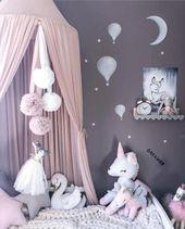 Prinzessin Betthimmel / Moskitonetz Vorhang, ein perfektes Geschenk für Neugeborene, Bab …   – kids bedroom ideas