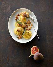 Füllung der Ravioli mit Frischkäsefeigen   – Food & Drinks