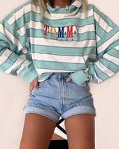 Denim short outfit – Pferde & Kleider