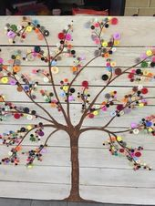 The Tree Wall Art Button on Converted Wooden Palette