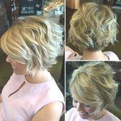 25 süße, kurz geschichtete Frisuren für unordentliches Haar …