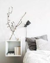 Skandinavisches Design: 120 stilvolle Ideen in Bildern   – Schlafzimmer