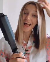 Nur 10 bis 15 Minuten zu tagelang glatten Haaren!