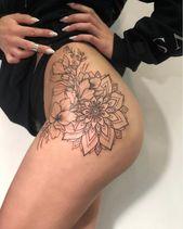 40 elegante einzigartige Blume Oberschenkel Tattoos Design für Frauen –