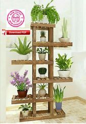 Tall Plant Stand plan/wooden plant stand plan/plant stand plan/flower stand plan/flower holder plan/plant holder plan/pdf sample/wooden porject