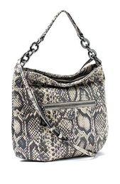Aimee Kestenberg Dayna Hologram Snake Leather Exterior Polyester Interior Cross Body Bag