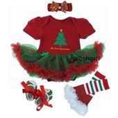 Baby Girl Christmas Dress Set – Vert / rouge / 3M – Vêtements de bébé $ 33,45 Mommies Bes   – Best Baby Clothes