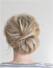 Schnelle Frisuren Knoten und Brtchen Neue Frisure…
