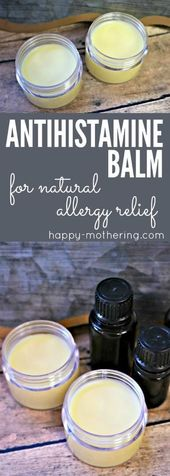 How To Make An Antihistamine Balm For Natural Allergy Relief
