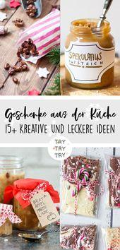 15+ Geschenke aus der Küche // Essensgeschenke // Weihnachtsgeschenk // Weihnachten …   – Weihnachten