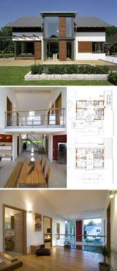 Holzhaus modern mit offener Galerie & Satteldach A…