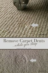 Removing Carpet Dents While You Sleep Castle Revival Carpet Dent Removing Carpet Types Of Carpet