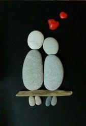 50+ der besten kreativen DIY-Ideen für das Kieselhandwerk #best # ideas #kie …   – Deko aus Steinen
