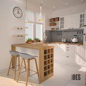 Küche von oes architekci, skandinavisch holz holznachbildung