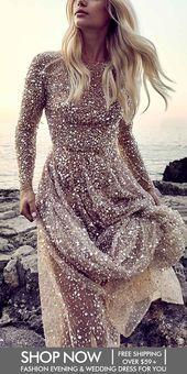 Romantic Halter Bare Back Paillette Evening Dress Mit Bildern Abendkleid Kleidung