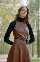 Polo Ralph Lauren – Ärmelloses & ausgestelltes Lederkleid   Nordstrom   – レザー
