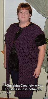 Crochet moonlight cardi vest crochet long vest crochet cardigan free plus sized crochet pattern in size 2x dt1010fo