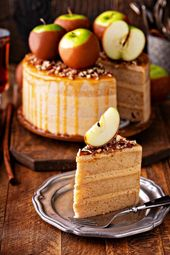 Caramel Apple Dream Cake: three big layers of super moist apple spiced cake, mad… – Alles mit Apfel / All about Apple