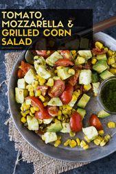 Tomato, Mozzarella and Grilled Corn Salad recipe