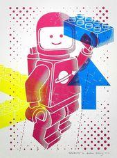 #byandreas #spaceboy #screen #hallo #color #print –    – Lego Illustration