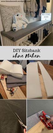 Baby Ilustration DIY Sitzbank - ohne Nähen | kleine bank flur diy #