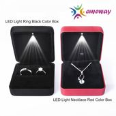 LED Mild Case Sq. Necklace Ring Field Marriage ceremony Engagement Jewellery Items Marriage Proposal Superb Valentine's Day