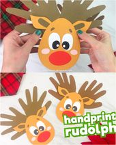 A Handprint Reindeer Craft For Children