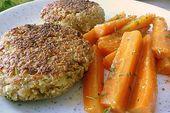 Grünkernpflanzerl (empanadas de semillas verdes) con zanahorias mostaza   – Kochen
