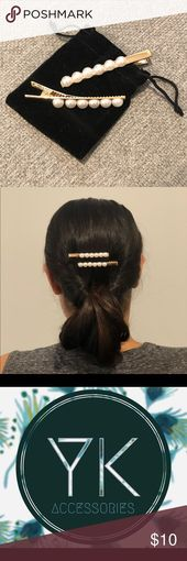 Pair of Pearl Hair Clips Sold by YK ACCESSORIES to be the hottest and trendiest faux pearl hair clips for all ages.  Simple and elegant style is perfe...