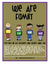 We Are Family…Word Families  – Products