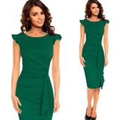 Slim Work Business Casual Party Bodycon Pencil Dress 6213