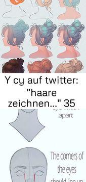 """Y cy auf Twitter: """"Haare zeichnen …"""" 35   – ideen"""