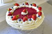 A 4th of July treasure! For the Strawberry Cake with Whipped Cream, white cake i…