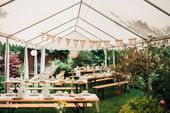 Casual garden wedding with vintage chic