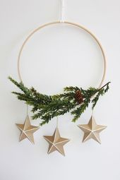 How to Make a Modern DIY Scandinavian Holiday Wreath Tips | ForRent