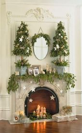 42 Stunning Christmas Fireplace Decorating Ideas (8