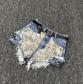 Rivet denim shorts 2019 summer season spring ladies excessive waist free tassel denims shorts